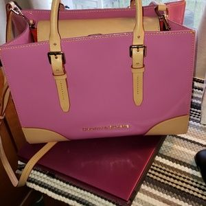 NWT Orchid Patent Janine Dooney & Bourke Bag